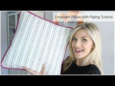 Envelope Pillow with Piping Tutorial www.melaniekham.com