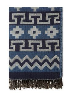 Mojave Cotton & Wool Jacquard Throw  by Melange Home at Gilt