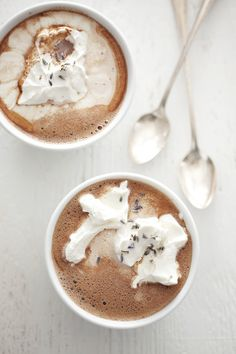 Winter nights, lavender hot chocolate