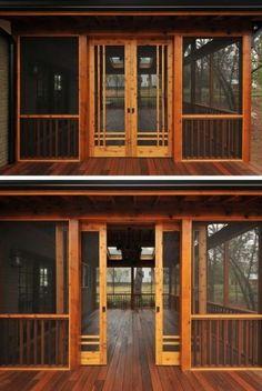 Interesting Sliding Porch Doors 28 Ideas for sliding barn door exterior screened porches sliding Screened Porch Doors, Screened Porch Designs, Screened In Patio, Front Porch, Screened Porch Decorating, Porch And Patio, Back Porch Designs, Slide Screen, Living Pool
