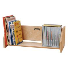 Jonti-Craft Book Holder Display for childrens books in daycares and preschools. Save on all book storage racks from Worthington Direct. File Folder Organization, Desktop Organization, Craft Storage Ideas For Small Spaces, Tidy Books, Diy Magazine Holder, Preschool Furniture, Book Racks, Book Holders, Book Stands