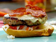 The Ultimate Salami Burgers recipe from Rachael Ray via Food Network