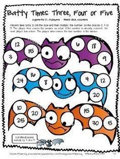 Cute math board game from Halloween Math Games Third Grade. Math Board Games, Fun Math Games, Halloween Math, Halloween Ideas, Halloween Crafts, Autumn Activities For Kids, Teaching Activities, Teaching Math, Teaching Resources