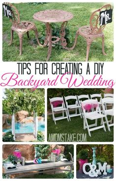 Tips and tricks for planning and creating your own DIY backyard wedding on a budget!