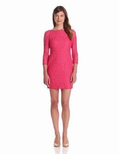 Adrianna Papell Women's Women's Long Sleeve Lace Dress - Pink