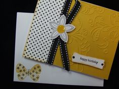 Handmade Birthday Card Embossed Stampin Up Butterfly | eBay