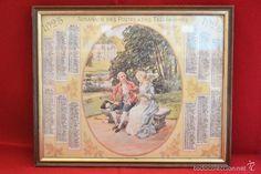 ALMANAQUE 1925 POSTES TELEGRAFICOS FRANCIA ENMARCADO 26CMX21CM