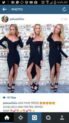 Long sleeve maxi dress little black dress