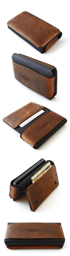 (1) iPhone Book Wallet by AtelierPall.com | ~Mens Accessories~ | Pinterest
