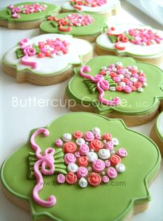 Buttercup Cookie - Time consuming - but cute! Mother's Day Cookies, Fancy Cookies, Valentine Cookies, Iced Cookies, Cute Cookies, Easter Cookies, Cupcake Cookies, Sugar Cookies, Cookie Frosting
