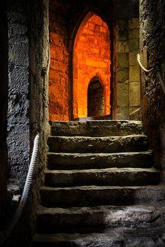 Interior of Caernarfon Castle, Wales photograph by Nat Coalson.