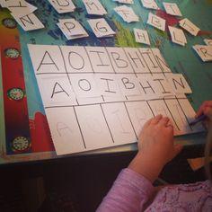 Aprendiendo a escontrar sus letras y escribir el nombre