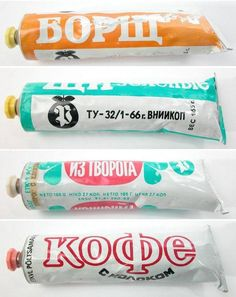 Made in CCCP Toothpaste ((( i like the last one)))