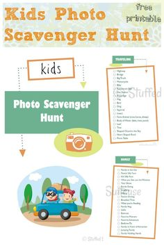 Kids Photo Scavenger Hunt Free Printable - great for family road trips and vacations!