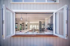 Sweet Chaos Home: Kitchen Pass Through Window Kitchen Pass, Kitchen Cabinets For Sale, Kitchen Sink, Kitchen Interior, Kitchen Design, Kitchen Garden Window, Kitchen Windows, Pass Through Window, Window Bars