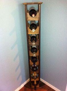 Custom Made Tall Skinny Wine Rack #WoodworkingPlansWineRack