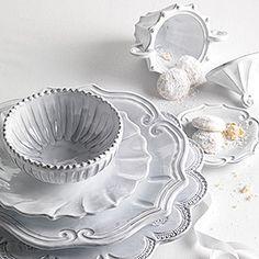 colorful dinnerware made-in italy dinnerware | Vietri Incanto White Dinnerware | Gracious Home | Product