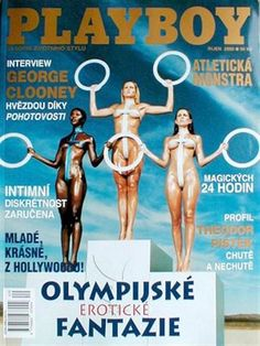 Playboy (Czech Republic) October 2000  with Olympics girls on the cover of the magazine
