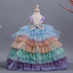 ARABELLA Wedding Dresses For Kids, Little Girl Dresses, Baby Dresses, Kids Dress Wear, Kids Gown, Baby Frocks Designs, Kids Frocks Design, Baby First Birthday Dress, Unicorn Dress Girls