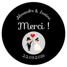 Les Magnets Mariage - Déco Papier Caillou Ciseaux