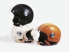 a Vespa helmet. then a Vespa. Leather Motorcycle Helmet, Scooter Helmet, Motorcycle Outfit, Motorcycle Helmets, Bicycle Helmet, Riding Helmets, Riding Gear, Astronaut Helmet, Adventure Style
