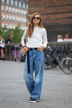 Copenhagen Fashion Week winter 2016, street style, this silhouette denim!