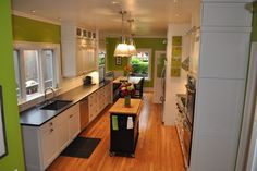 Hinged leaf makes island larger - Assadi - traditional - kitchen - seattle - Lisa Wilson