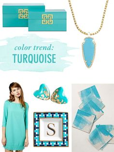 Color Trend: Turquoise // Twin Stripe