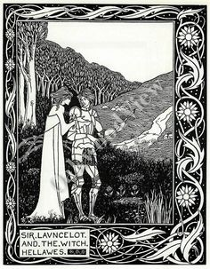 #SirLancelot #lancelot The #Witch #Hellawes #vintage #bookplate #Print #Aubreybeardsley #oakwoodview #oakwoodviewtoo #evt by OakwoodView