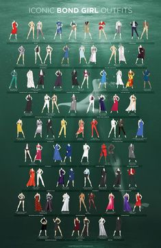 Infographic shows how Bond Girl outfits have changed over the years, from Sylvia Trench to Lucia Sciarra  - Cosmopolitan.co.uk