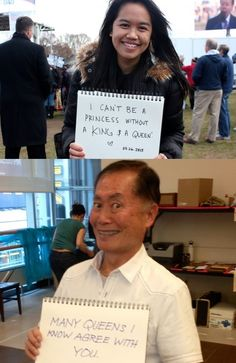 George Takei has an answer for those anti-gay marriage protestors. Click through for more hilarious responses