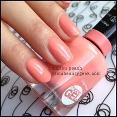 Sally Hansen Malibu Peach Miracle Gel - peachy coral creme