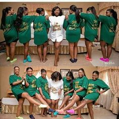 FriYAY vibes inspiration with my cos we unique like that ❤❤ dripping of Nothing but 'EL O Vee E' in Green White… Latest African Fashion Dresses, African Lace Dresses, Wedding Group Poses, Black People Weddings, Nigerian Wedding Dresses Traditional, African Wedding Attire, Emerald Green Weddings, Black Bride, Bridal Robes