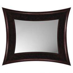 Paragon Mahogany Modern Rectangle Mirror - 8680