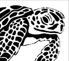 Sea Turtle 10MIL Laser-cut Stencil por PearlDesignStudio en Etsy