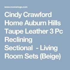 Cindy Crawford Home Auburn Hills Taupe Leather 3 Pc Reclining Sectional - Living Room Sets (  sc 1 st  Pinterest & Gennaro 5-pc Leather Sectional Sofa with 2 Power Recliners with ... islam-shia.org