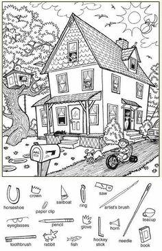 Hidden Picture Games, Hidden Picture Puzzles, Hidden Pics, English Activities, Preschool Activities, Highlights Hidden Pictures, Hidden Pictures Printables, Hidden Objects, Activity Sheets