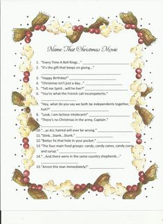 christmas movie trivia i dont have a blog or anything so be sure to use the answer key that i provided below 1 its a wonderful life 2 national - National Lampoons Christmas Vacation Trivia