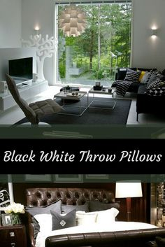 Black White Throw Pillows - black accent pillows Black and white home decor has always been elegant, sophisticated and timeless. For this reason I really like to use black and white throw pillows. Black with white throw pillows give a living room, bedroom or office depth, dimension and texture. Additionally family and friends will enjoy that your couch, bed, chair or bench is soft and comfortable. Additionally this would make a great housewarming , wedding or Christmas gift