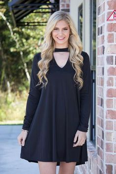 This dress is wildly attracted to you because the fit is great and includes Modal!! This dress features a low v neck key hole in the front, long fitted sleeves, and a comfotable fit. This dress comes
