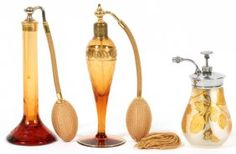 DEVILBISS & OTHER GLASS PERFUMES C. 1925 THREE
