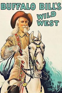 Buffalo Bill on Horseback. High quality vintage art reproduction by Buyenlarge. One of many rare and wonderful images brought forward in time. I hope they bring you pleasure each and every time you lo