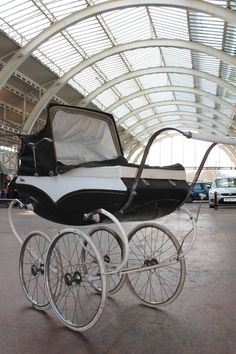 Source Antiques not only came up with this vintage Pedigree Victor pram, but they took it in this great wacky location.
