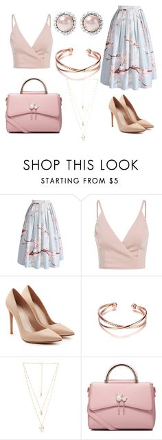 """Untitled #138"" by oops-ally on Polyvore featuring Chicwish, Alexander McQueen, Natalie B, WithChic and Miu Miu"