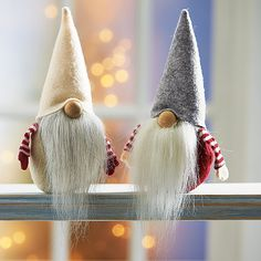 They make me smile. Two little tomte or bearded gnomes if you prefer.