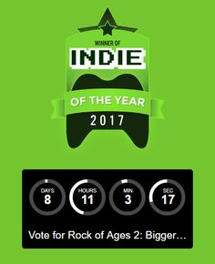 Rock of Ages 2 rolled into IndieDB's TOP 100 Indie of the Year Awards! Now let's keep rolling all the way to TOP 10!  Go to the link below and vote again! Scroll down a little and you will find #RockOfAges2 in the Tower Defense category.    http://www.ind