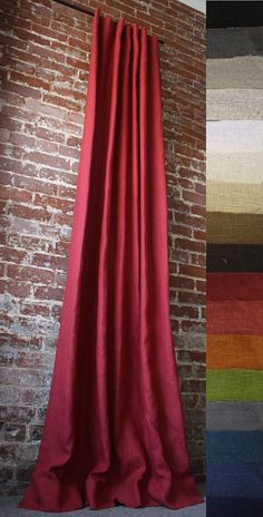 These are the panels I was telling you about for living room. Price is per panel. 108 Knife Pleated Solid Drapery Panel  Custom  You by MarthaAndAsh, $135.00