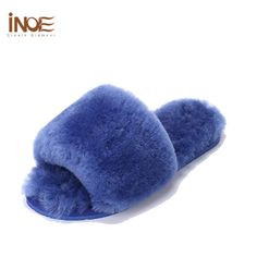 New Arrival Sheepskin Leather Bedroom Slippers Women S Shoes Indoor ...