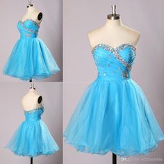 2015 Elegant A-line Sweetheart Mini Sleeveless Organza Beading Homecoming Dress ORHD-7312