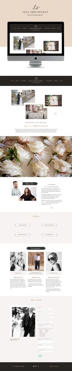 clean, simple, hints of rustic tones squarespace design | designed by: golivehq.co